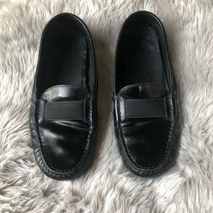 Tod's Black Leather Loafers